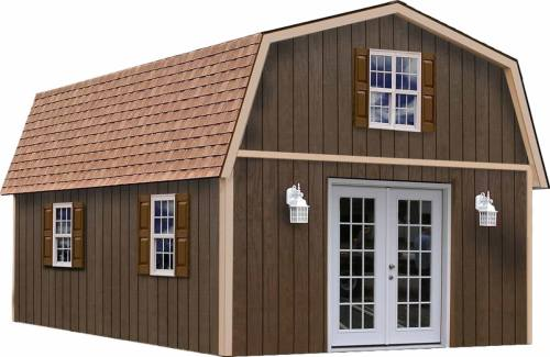The Richmond Barn Kit by Best Barns is not delivered preassembled. This is a kit you put together yourself. That way you can pull permits and get any needed inspections along the way.