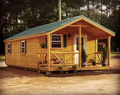 Top of the line 12' x 24' Woodland Cabin - 12' x 24' Modular Log Cabin for under $10,000 - Project Small House