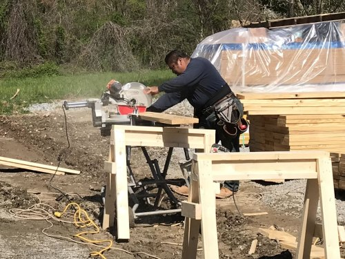 Cutting the lumber - Building our Schumacher Home