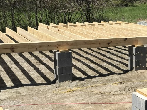 Floor joists - This will be the back of our bedroom. - Building our Schumacher Home