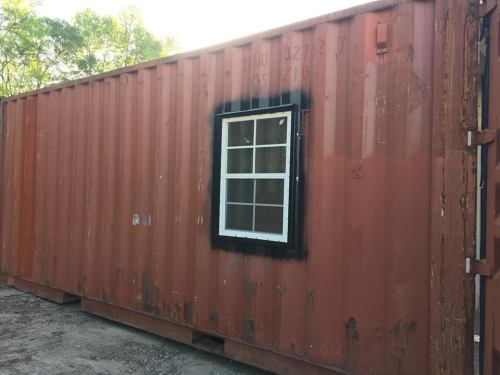 Shipping Container with window - Project Small House
