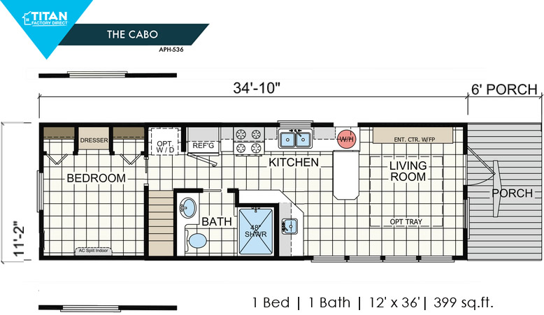 Cabo Park Model Tiny Home by Titan on Amazon – Project Small House