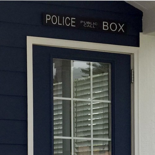 Police Call Box Tardis Tiny House - This Tiny House is Bigger on the Inside - Project Small House
