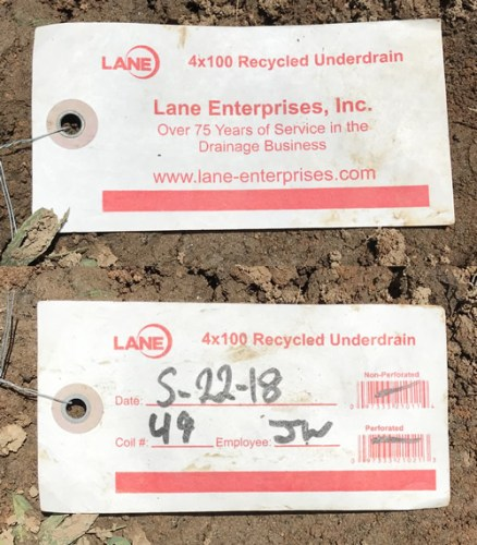 Lane 4 x 100 Recycled Underdrain Lane Enterprises, Inc Over 75 Years of Service in the Drainage Business - Downspout Drain Line – Project Small House
