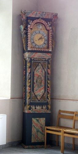 Clock in the Sandhem Church, Västergötland, Sweden Photo by Nasko - More Mora Clocks - Project Small House