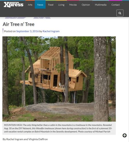 Air Tree n' Tree - Mountain Xpress - Tree House in Asheville – Project Small House