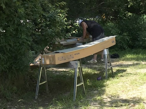 Cutting Vinyl Siding - Installing the Vinyl Siding - Project Small House