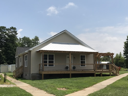 Front Porch with Metal Roof - New Modular at Premier Homes of the Carolinas – Project Small House