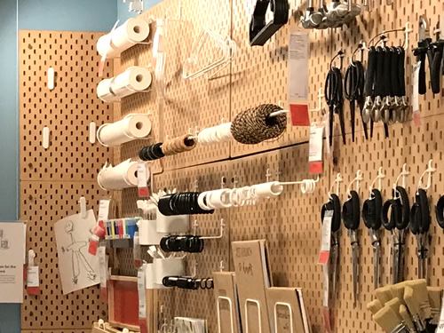 Skadis Pegboard holds paper, twine, scissors, paintbrushes, even books and paper - Ikea Inspiration : Skadis Pegboard – Project Small House