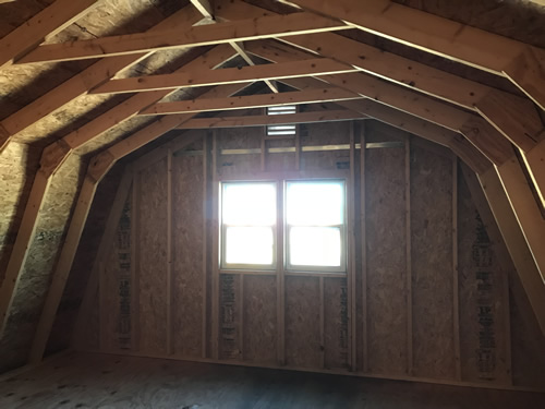 Upstairs - Summer Wind: Two Floor Storage Barn – Project Small House