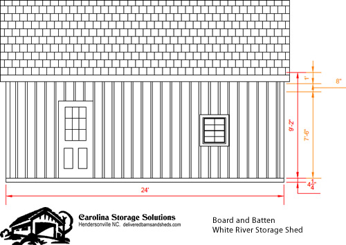 Board and Batten White River Storage Shed – Project Small House
