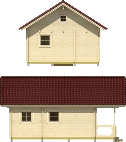 This version of the suggested floor plans has one window in the loft, but you can choose where you want the windows. - Timberline 483 Square Foot Cabin Kit – Project Small House