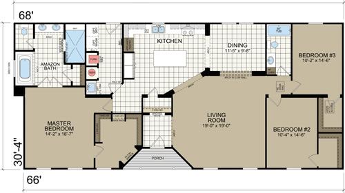 Archdale Floor Plan - Modular version - Archdale Modular or Double Wide – Project Small House