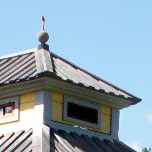 Spire on the roof of Summer House at the island Djurgården in Stockholm, Sweden. - Inspiration: Swedish Summer House