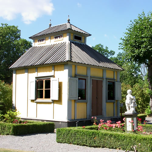 The Summer House in the the open-air museum and zoo on the island Djurgården in Stockholm, Sweden. - Inspiration: Swedish Summer House