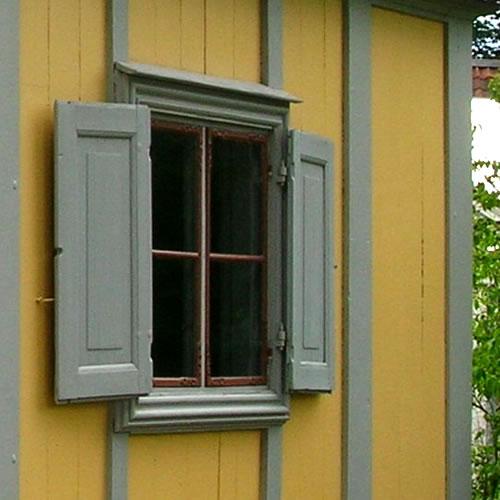 Traditional Swedish shuttered window - Inspiration: Swedish Summer House