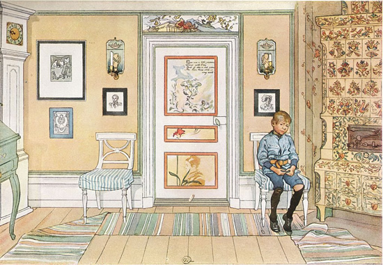 In the Corner by Carl Larsson - Swedish Kachelofen – Project Small House