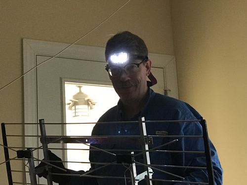Cliff put an antenna in the attic - Getting Settled and Enjoying Spring – Project Small House
