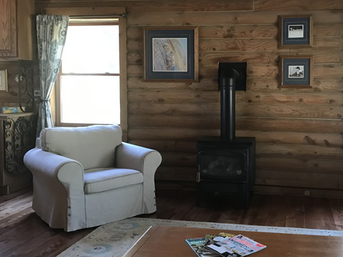 The chair is super comfortable. - IKEA Ektorp Sofa and Chair - Getting the Cabin Ready to be a Vacation Rental