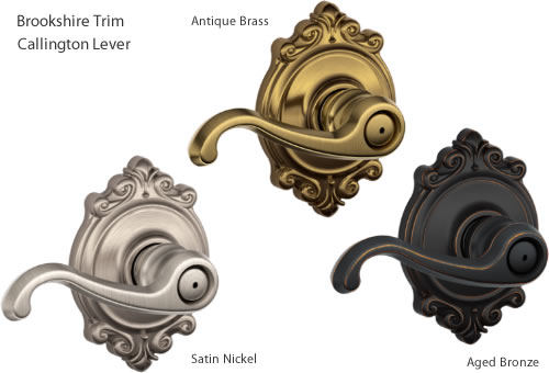 Brookshire Trim with Callington style levers from Schlage