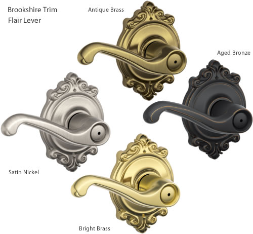Brookshire Trim with Flair style levers from Schlage