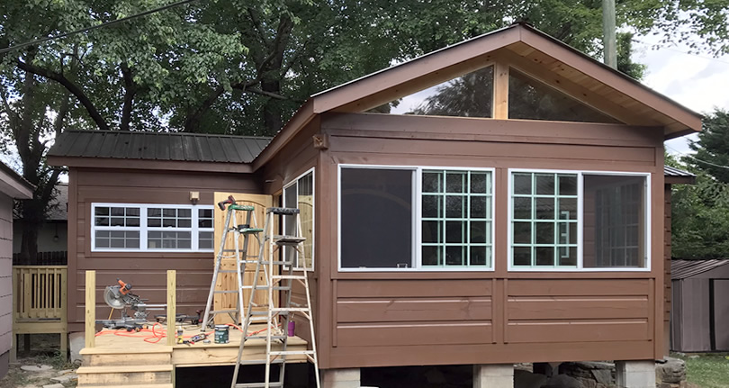 Adding an Addition to a Tiny Log Cabin