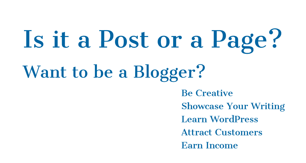 Is it a Post or a Page?