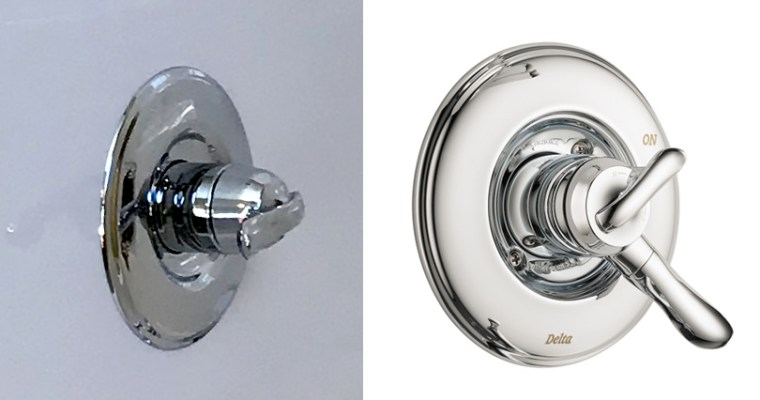 Changing the Shower Trim Tub Handle to Control Volume and Temperature Separately