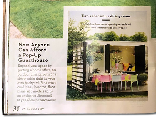 Now Anyone Can Afford a Pop-Up Guesthouse Tiny House Special Good Housekeeping magazine August 2019