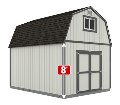 Tuff Shed Sundance Series TB-800 with optional vent, window and double doors