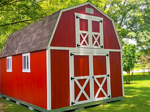 Tuff Shed Sundance Series TB-700 with Double Doors and Custom Upper Gable Doors