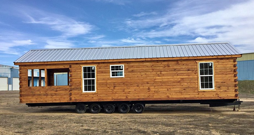 11' x 36' DIY Park Model Log Cabin Kit for $11,900