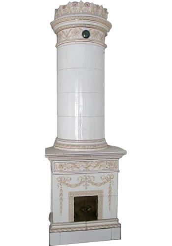 Column Kakelugn Swedish Tiled Stove