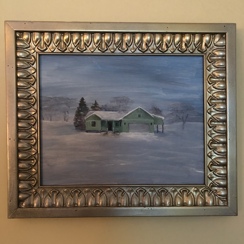 I painted our house in the snow.