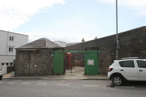 The outside walls from Harbour Street Lerwick