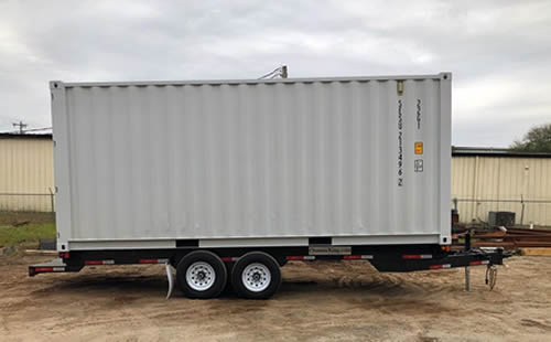 Before: This is a 20' shipping container