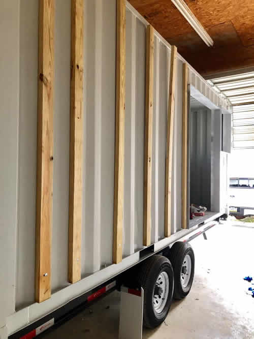 Ready to put the cedar cladding on the container house