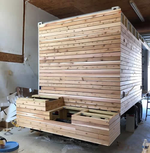 Building the Outdoor Kitchen on a Casa Cubed Container House