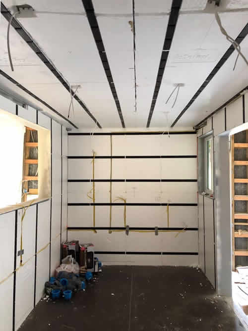 Wired and ready for drywall