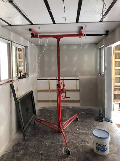 Installing the drywall