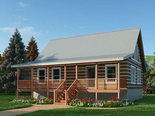 Thompson Ridge Log Cabin Kit from Log Cabins for Less