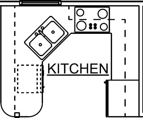 Kitchen - Landmark Special Select Chalet Plan 7