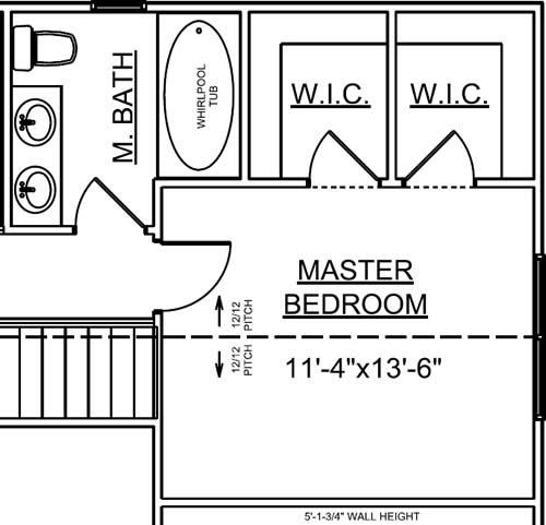 Master Bedroom - Landmark Special Select Chalet Plan 7