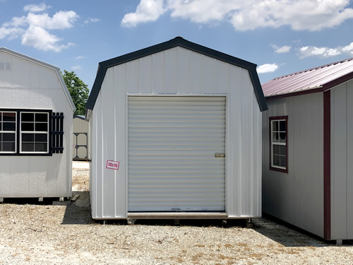 10x16 Metal Lofted Barn with Roll-up Door