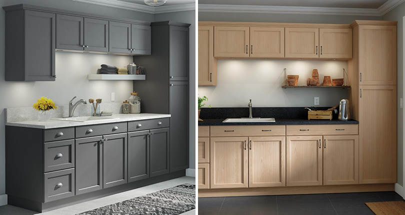 Home Depot Hampton Or Easthaven Shaker, Unfinished Kitchen Cabinets Shaker Style