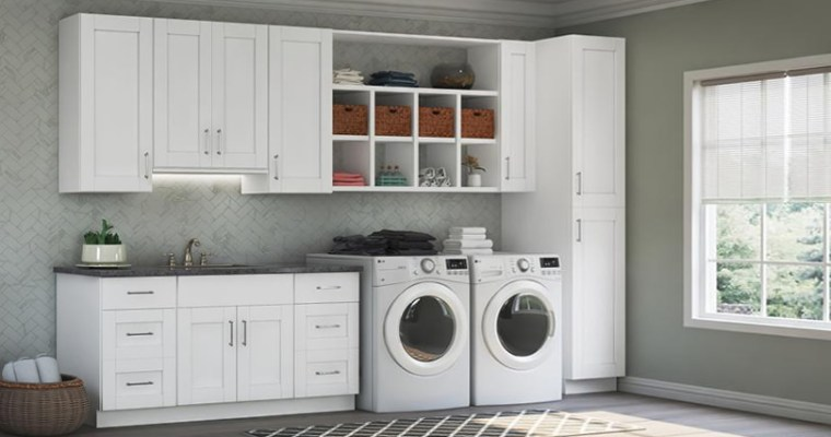 Organize the Laundry Room with Cabinets