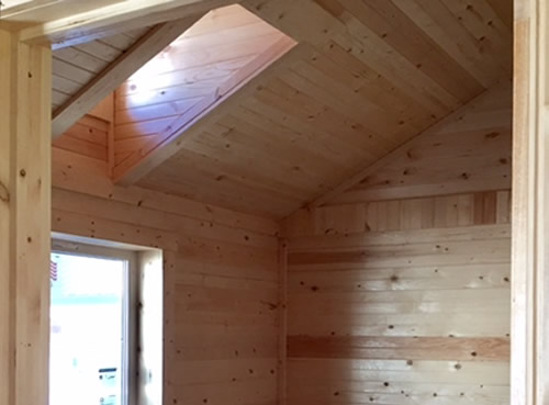 Working Dormers let light into the loft and bedroom