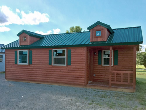 Deer Run Cabins Discount Complete 14' x 28' Modular Log Cabin