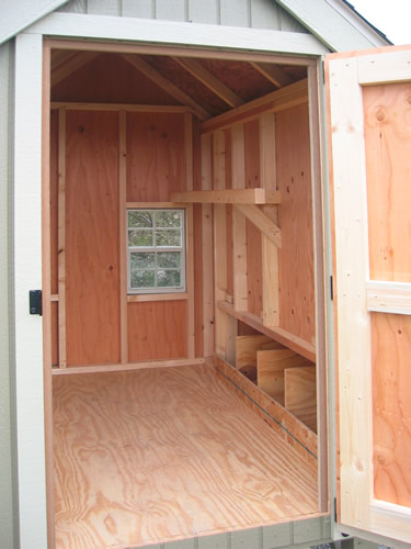 Inside the Little Cottage Company Colonial Gable Chicken Coop Kit