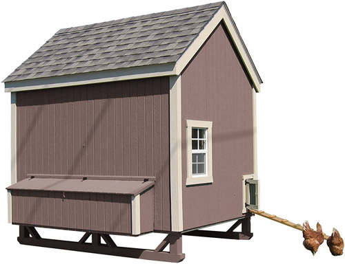 Brown Paint on a Little Cottage Company Chicken Coop Kit